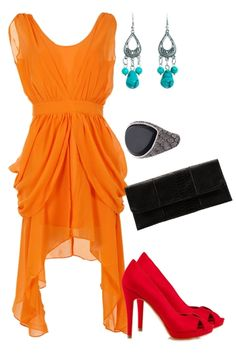 This color mix is so inventive and works perfectly. Dress outside the box!