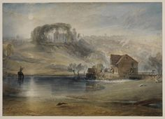 Joseph Mallord William Turner 'Colchester, Essex', - Watercolour, gouache and scraping out on paper - Dimensions Support: 287 x 407 mm - © Courtauld Institute Gallery, London Joseph Mallord William Turner, Will Turner, Landscape Art, Landscape Paintings, Oil Paintings, Watercolor Paintings, Turner Watercolors, Museum, Covent Garden