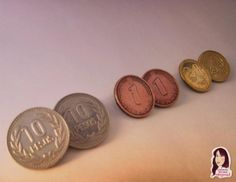 Aretes, monedas, reciclando.