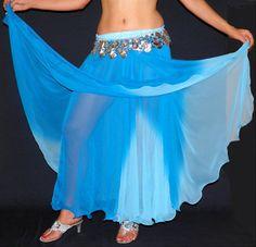 Jupe dégradé turquoise :: Bazar de tina