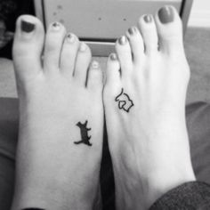 Best friend / sister kitty cat tattoos @Melissa Squires DeBolin