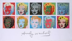 """10 Marilyns on White Background"" - Marilyn Monroe posters and prints available at Barewalls.com"