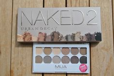 MUA, Naked2, Urban Decay, undress me too, dupes, makeup palette, make up, make up dupes, product review, eyeshadow, eyeshadow dupes