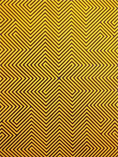This is very unique pattern, which gives off an illusion effect, by the use of diagonal lines.  Also the colours black and yellow could represent danger.