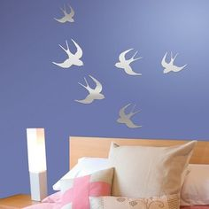 Bird Mirror Wall Decals... i want these