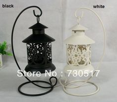 Metal Wrought Iron Pillar Tea Light  Candle Holder Stand Black/White Antique Design For Weddings Table Decoration Wholesale US $10.99