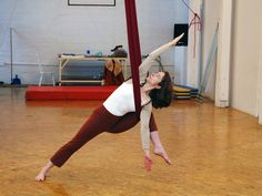 Sun Salutations with silks...yes please