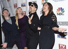 Good times: Series regulars Peter Scanavino, Kelli, Ice-T and Mariska were having fun together