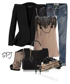 """""""Beads & Lace"""" by s-p-j ❤ liked on Polyvore featuring Hollister Co., Alexander McQueen, Gold Hawk, Dolce&Gabbana, Giuseppe Zanotti, Nordstrom, Stella & Dot, Rosantica and Oasis"""