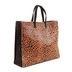 Leopard Print Tote, Leather Tote, Leopard print tote, Calf Hair... (9.220 CZK) ❤ liked on Polyvore featuring bags, handbags, tote bags, brown leather tote, brown tote, tote purses, handbags totes and brown leather purse