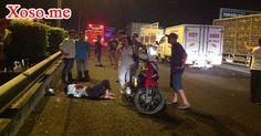 Xe máy chạy ngược chiều gây tai nạn liên hoàn, 1 người nguy kịch