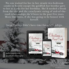 """""""Christmas in Moose Creek"""" by McKenna Grey, a small-town, second-chance contemporary holiday novelette."""
