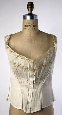 Object Name  Corset Cover  Date  ca. 1910