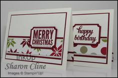 Christmas, Birthday, Stampin' UP! - Sharon Cline - www.inkup.us