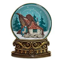 Winter Efteling 2015 Repelsteeltje. Verschenen in: november 2015. Oplage: 500. Serie: Winter Efteling Pins.