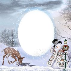Transparent Christmas Winter PNG Photo Frame