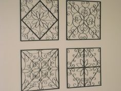Faux Metal Wall Art Tutorial Out of Toilet Paper Rolls