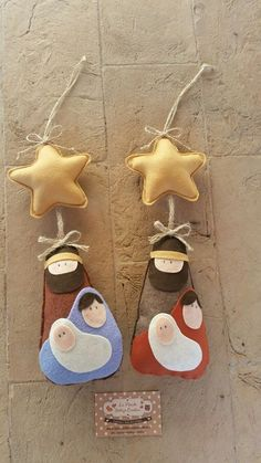 Go to the webpage to learn more about DIY Christmas Projects Felt Christmas Decorations, Felt Christmas Ornaments, Christmas Nativity, Christmas Art, Christmas Projects, Nativity Ornaments, Nativity Crafts, Felt Crafts, Holiday Crafts