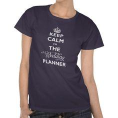 Keep Calm I'm The Wedding Planner - Parody Blue T-shirt