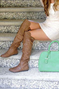 High In The Sky Boots: Brown   Hope's
