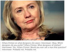 When one journalist asked Hillary a stupid question....