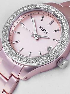 Fossil Women's ES2976 Quartz Rose Dial Aluminum Watch : Disclosure: Affiliate link