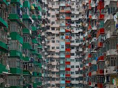 German photographer Michael Wolf captures the ageing high-rise culture of Hong Kong, which has more buildings over tall than any other city in the world. The modern face of Hong Kong was formed, like New York and Chicago, by a fire.