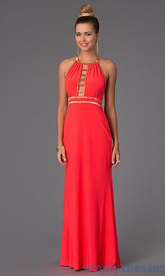 Exactly the one i need .Floor Length Sleeveless Dress with Cut Outs at SimplyDresses.com