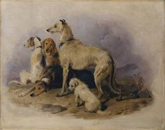 Highland Dogs  by Edwin Henry Landseer       Date painted: c.1839