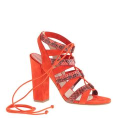 J.Crew - Paul Andrew™ for J.Crew lace-up high-heel sandals