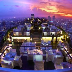 Bangkok skyhigh bar - Banyan Tree, moon bar