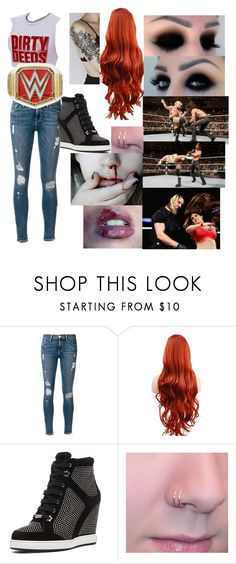 """Fighting Seth Rollins"" by ashngods on Polyvore featuring Frame and Jimmy Choo"