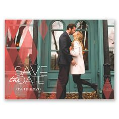 Diamond Delight - Photo Save the Date Postcard - Modern Contemporary at Invitations By David's Bridal