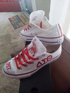 Delta Sigma Theta Pearl Converse @laqueata LOOK AT THESE!!!!!!!!!