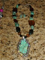Turquoise Neklace Set Funky Chunky Jewelery