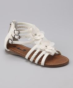Take a look at this White Beach 46 Sandal by Anna Shoes on #zulily today!