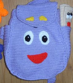 Crochet Back Bag : Crochet patterns, Backpacks and Crochet on Pinterest
