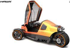 Hawk Zero S Fast And Aggressive Trike For Urban Roads By Carlos Fuentes