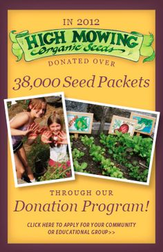 High Mowing Organic Seeds - 100% Organic, Non-GMO Seeds