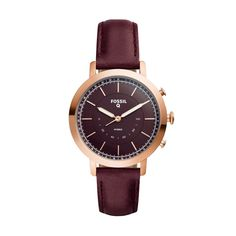 Fossil Q Neely Hybrid Smartwatch - Rose Gold/Wine (Rose Gold/Red)