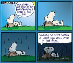 #Snoopy #Rain #Peanuts