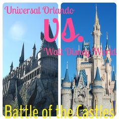 The Battle of the Castles: Universal Orlando vs. Walt Disney World - an honest comparison to help you choose whether or not visiting outside of Walt Disney World is best for your family