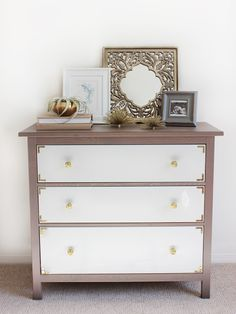 Love campaign-inspired dresser hacks, and this one is especially elegant. (From IKEA Hackers.)