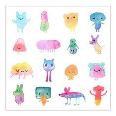 art print - watercolor characters