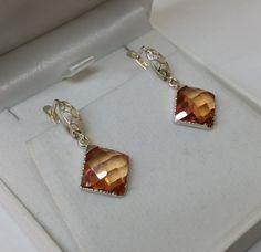Vintage Ohrhänger - Ohrringe Ohrhänger Kristallsteine Silber 925 SO215 - ein Designerstück von Atelier-Regina bei DaWanda