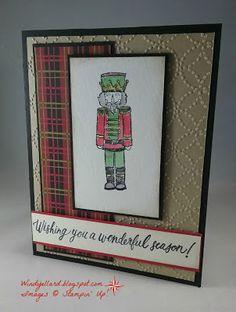 Windy's Wonderful Creations: Sugarplum Dreams, Stampin' Up!, Sugarplum Dreams, Quilt Top emboss folder, Christmas Around The World DSP