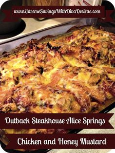 Outback Steakhouse Alice Springs Chicken & Honey Mustard Sauce