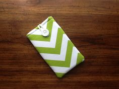 Green and White Chevron Cell Phone Case, IPhone 6s Cell Phone Case, IPhone 7s Cell Phone Case, Padded Cell Phone Cover Sleeve by LindaLeasBoutique on Etsy
