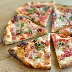 Classic Margherita Pizza Recipe Main Dishes with pizza doughs, tomatoes, garlic, basil, mozzarella cheese