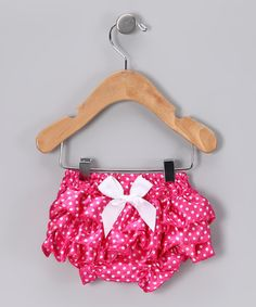 Take a look at this Hot Pink Polka Dot Diaper Cover - Infant by Under The Hooded Towels on #zulily today!
